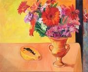Flowers and Papaya